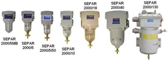 Все топливные фильтры сепар